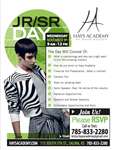 hays academy of hair design junior senior day